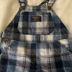 Baby Boy plaid shorts overalls 9 months
